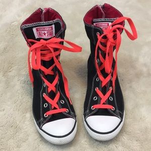 Converse Back Zip High Top Sneakers